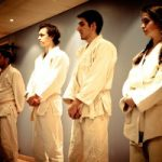 White belts lining up before class