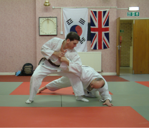 Martial art students at our Lincoln Hapkido school