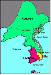 The three kingdoms of Korea.