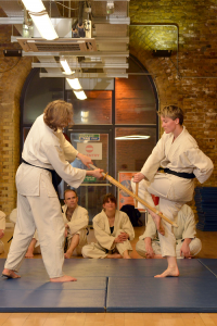 Hapkido weapon techniques in our London martial art class