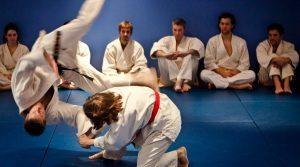 Hapkido throwing technique at London martial arts school