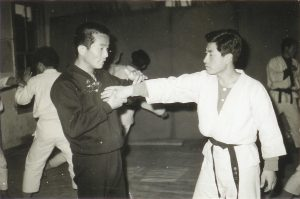 Early photo of Martial Art Grandmaster Chang teaching Hapkido.